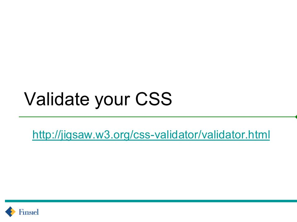 Validate your CSS