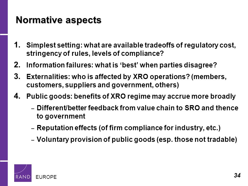 34 EUROPE Normative aspects 1.