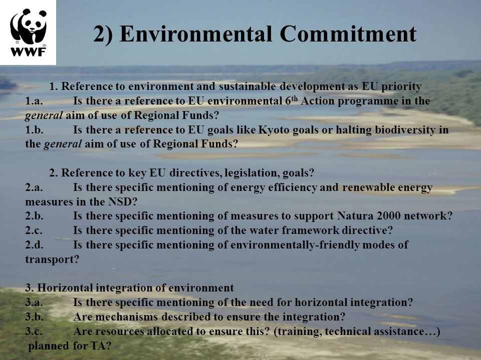1. Reference to environment and sustainable development as EU priority 1.a.