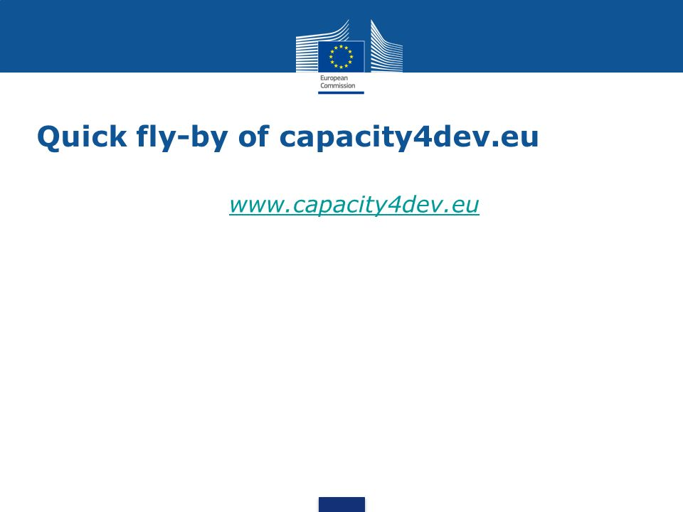 Quick fly-by of capacity4dev.eu www.capacity4dev.eu