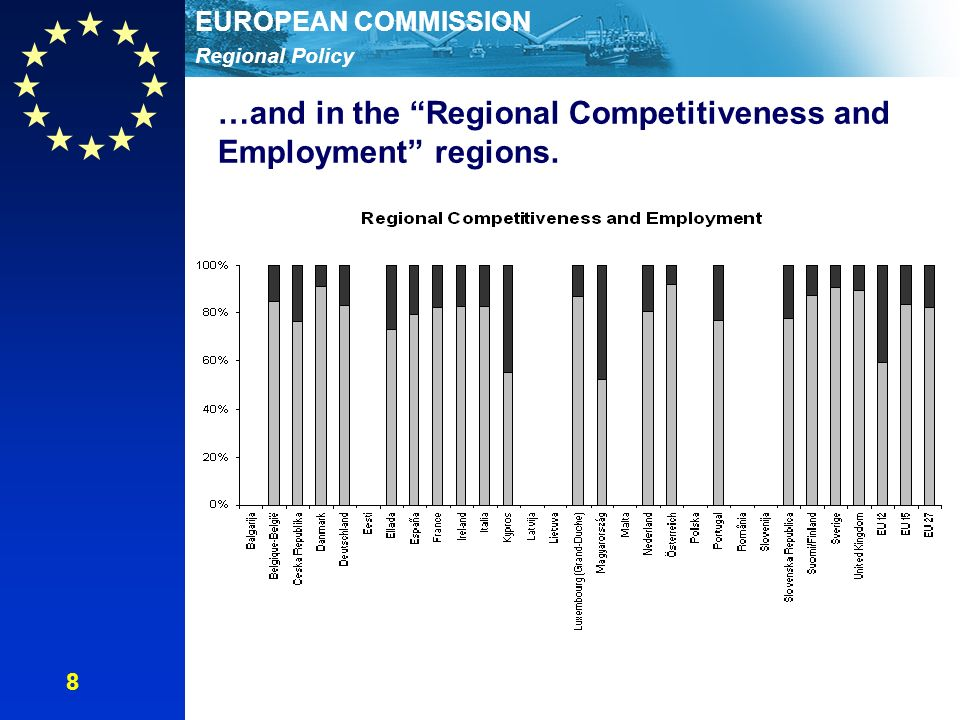 Regional Policy EUROPEAN COMMISSION …and in the Regional Competitiveness and Employment regions. 8