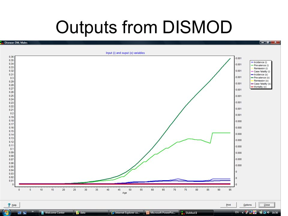 Outputs from DISMOD