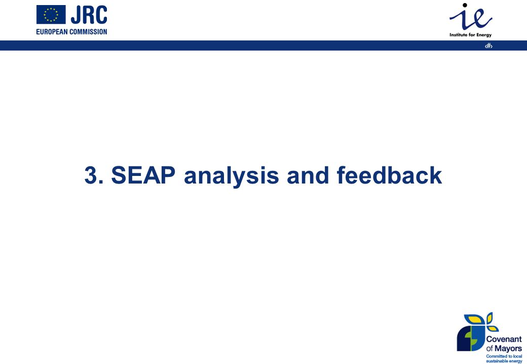 23 3. SEAP analysis and feedback