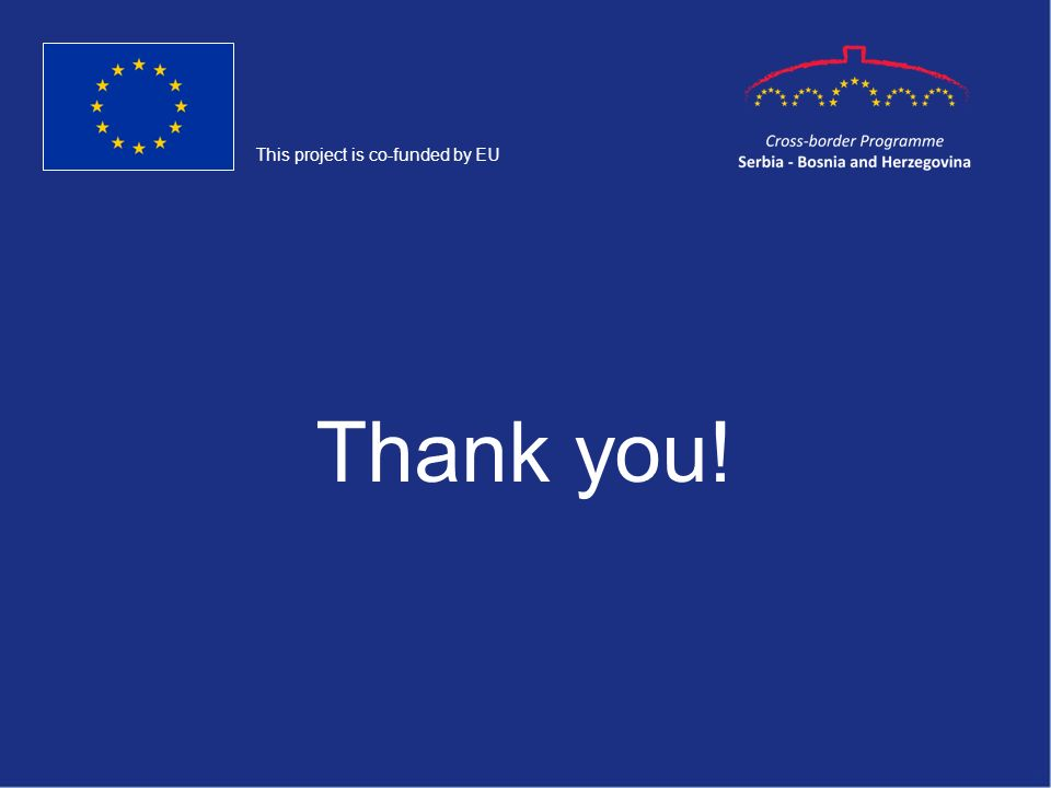 Thank you! This project is co-funded by EU