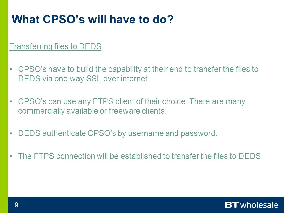 9 What CPSOs will have to do.