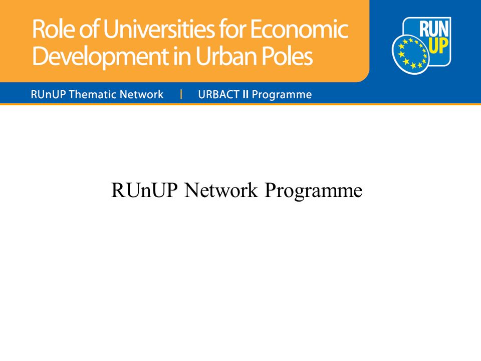 RUnUP Network Programme