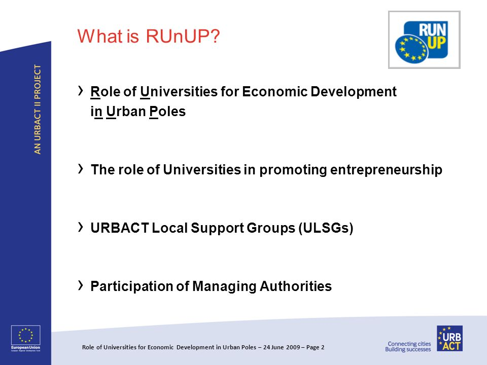 What is RUnUP.