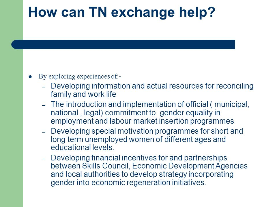 How can TN exchange help.