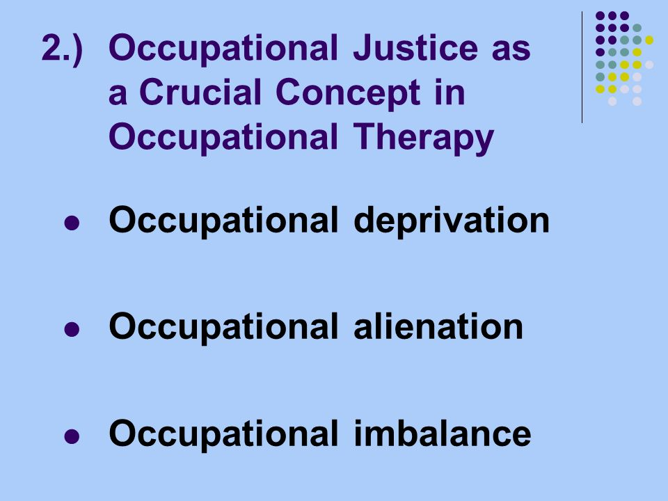 1.)Introduction Occupational Justice The European Year of Equal Opportunities for All 2007 National Strategies in Germany