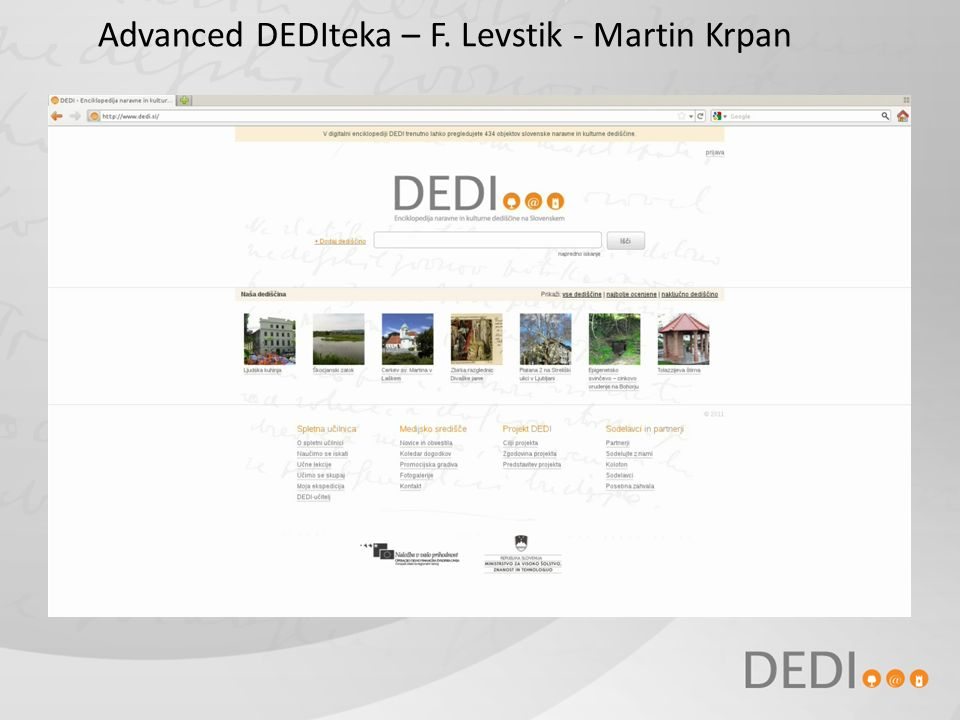 Advanced DEDIteka – F. Levstik - Martin Krpan