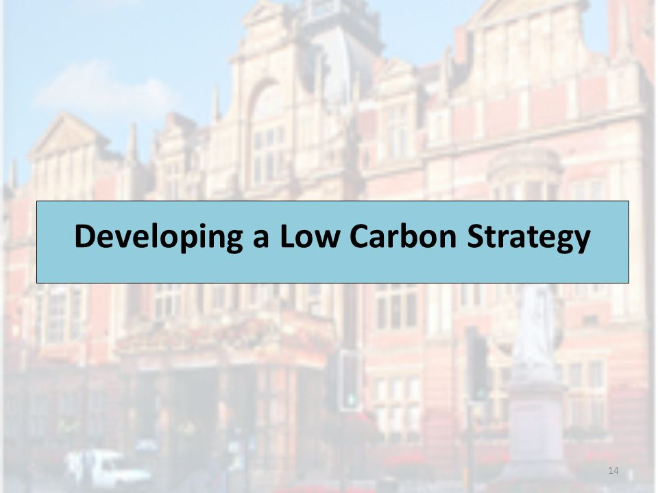 Developing a Low Carbon Strategy 14