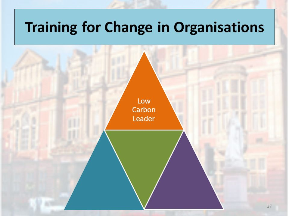 Training for Change in Organisations 27 Low Carbon Leader