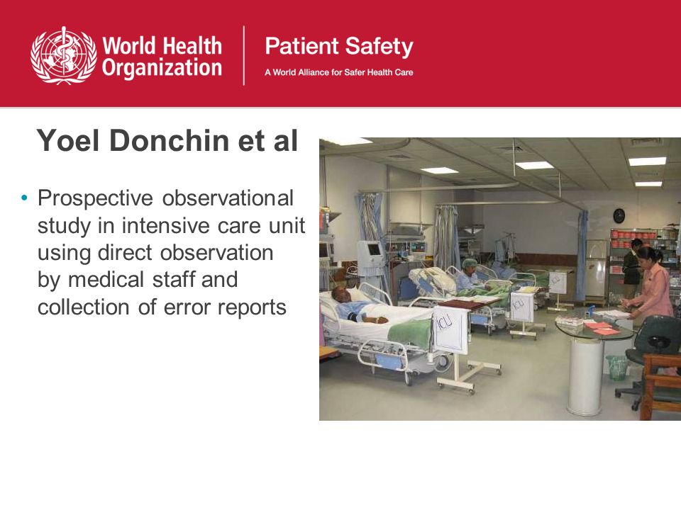 Yoel Donchin et al Prospective observational study in intensive care unit using direct observation by medical staff and collection of error reports