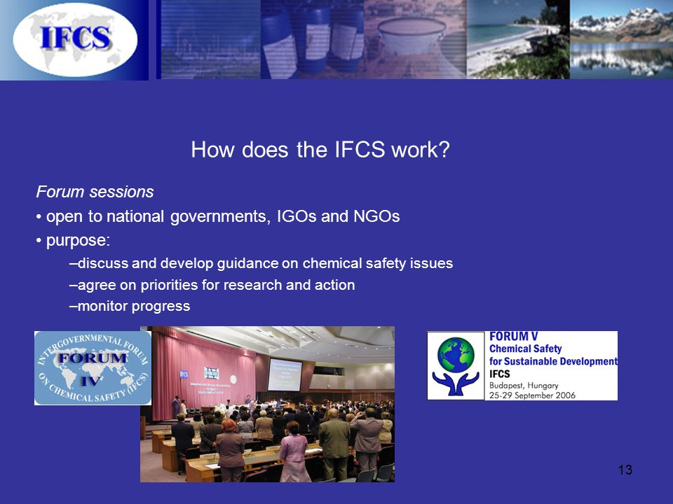 13 How does the IFCS work.