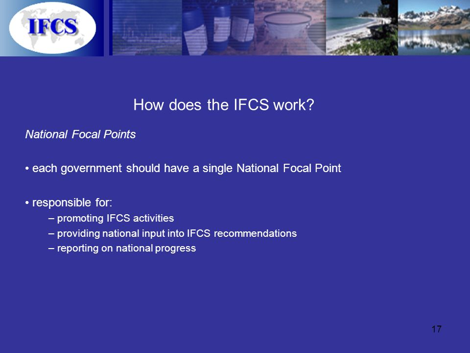17 How does the IFCS work.
