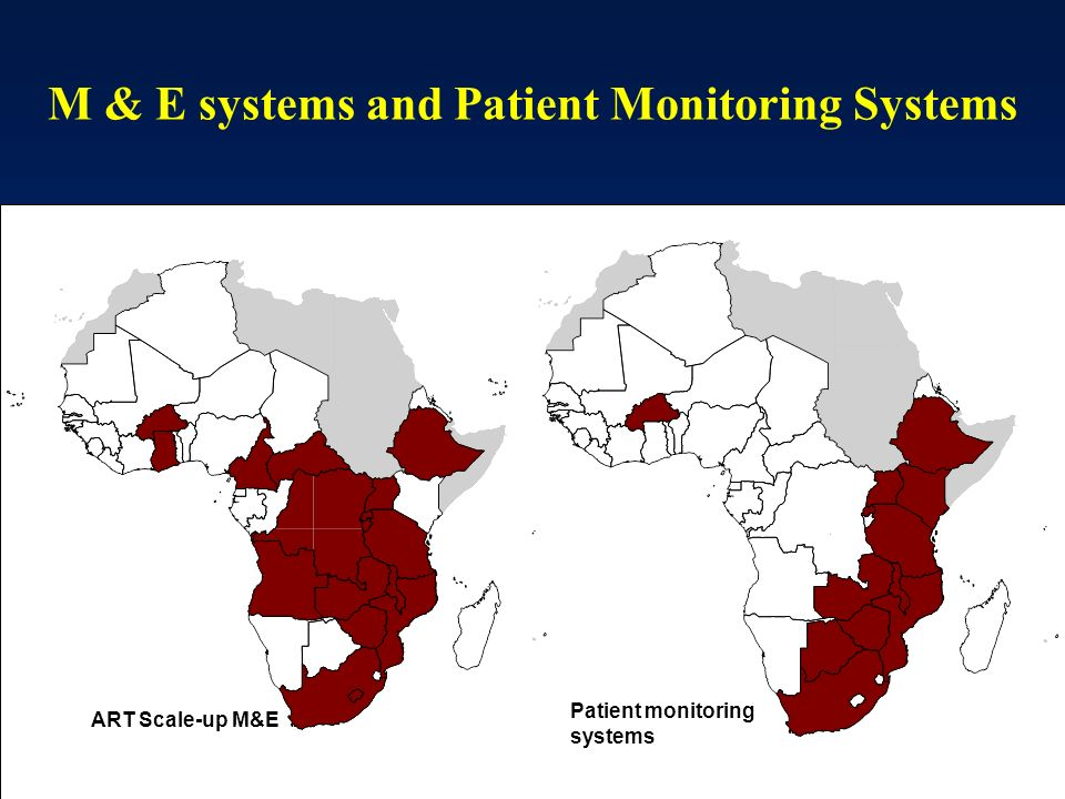 M & E systems and Patient Monitoring Systems ART Scale-up M&E Patient monitoring systems