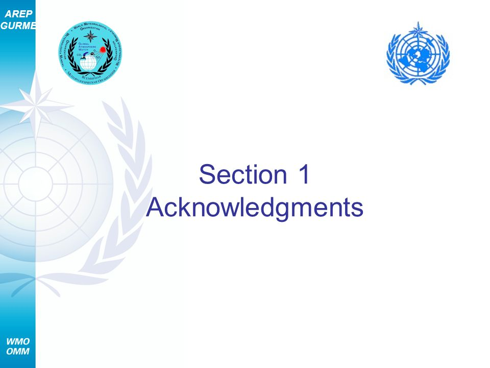 AREP GURME Section 1 Acknowledgments