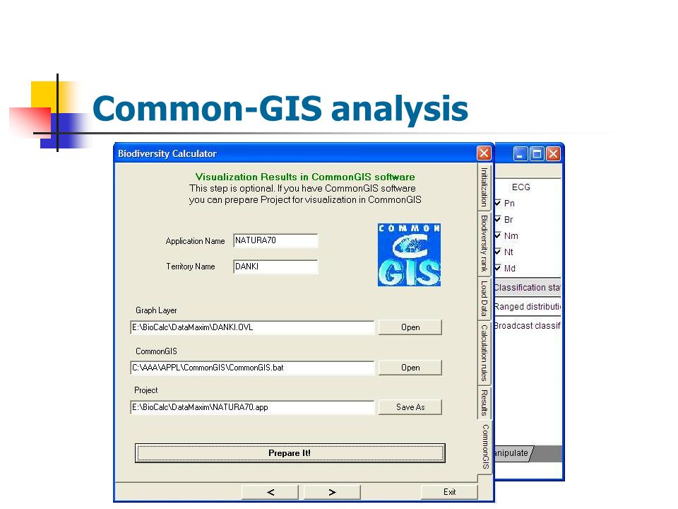 Common-GIS analysis