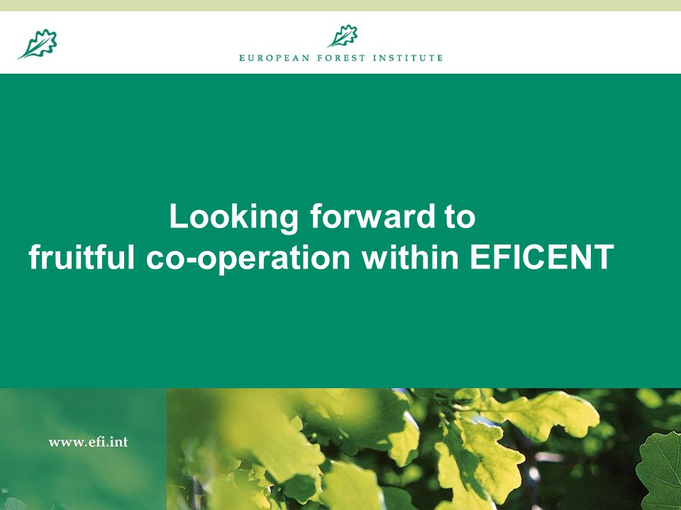 20.8.200416 Looking forward to fruitful co-operation within EFICENT