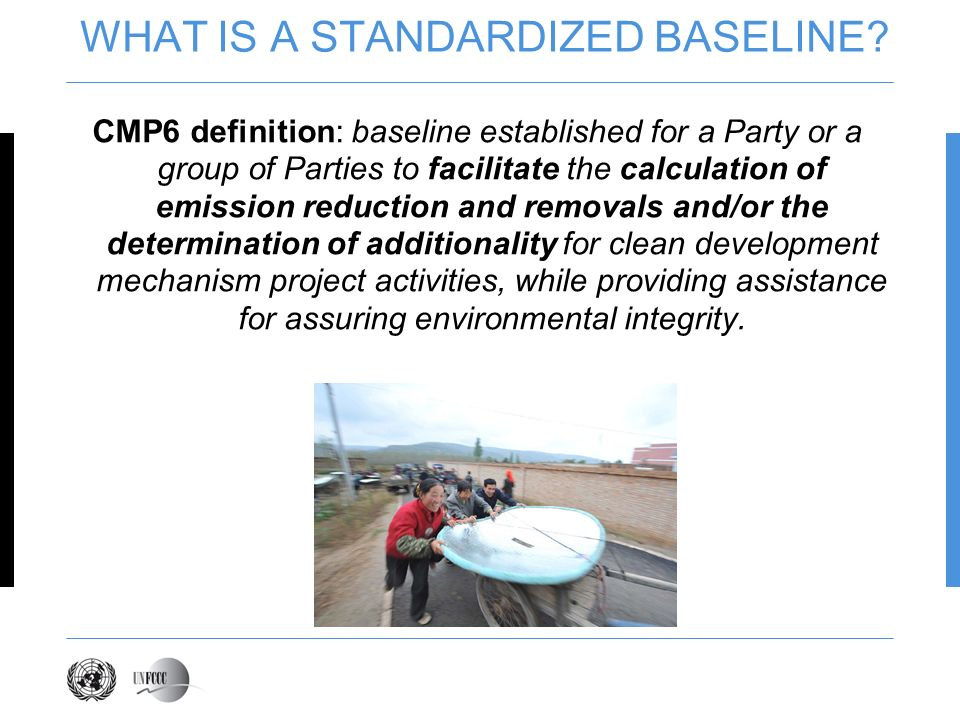 WHAT IS A STANDARDIZED BASELINE.