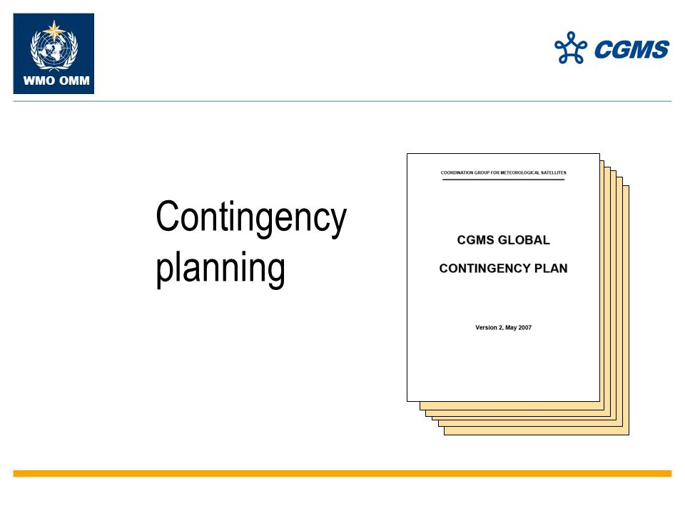 WMO OMM Contingency planning