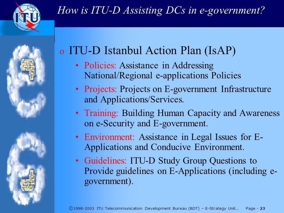 © ITU Telecommunication Development Bureau (BDT) – E-Strategy Unit..