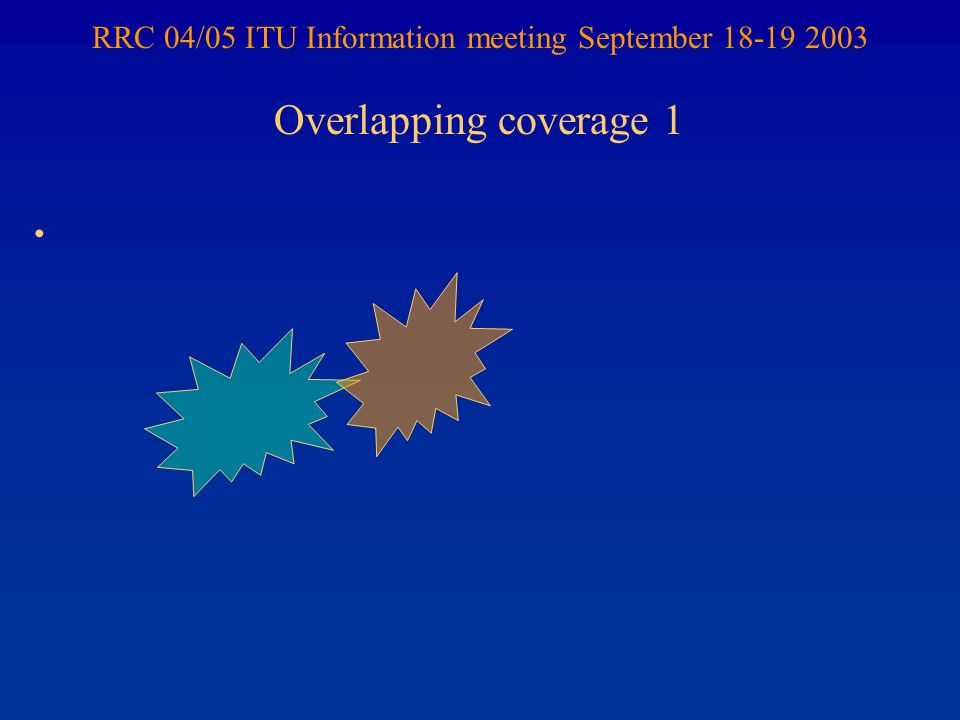 RRC 04/05 ITU Information meeting September 18-19 2003 Overlapping coverage 1