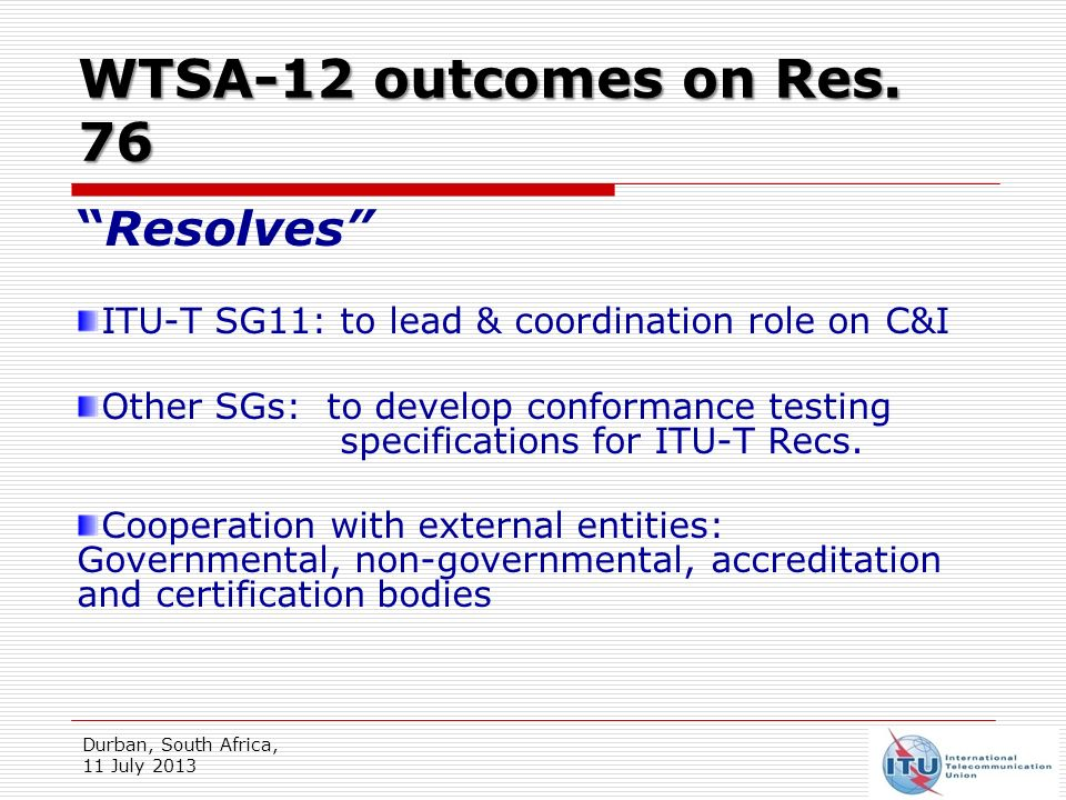WTSA-12 outcomes on Res.