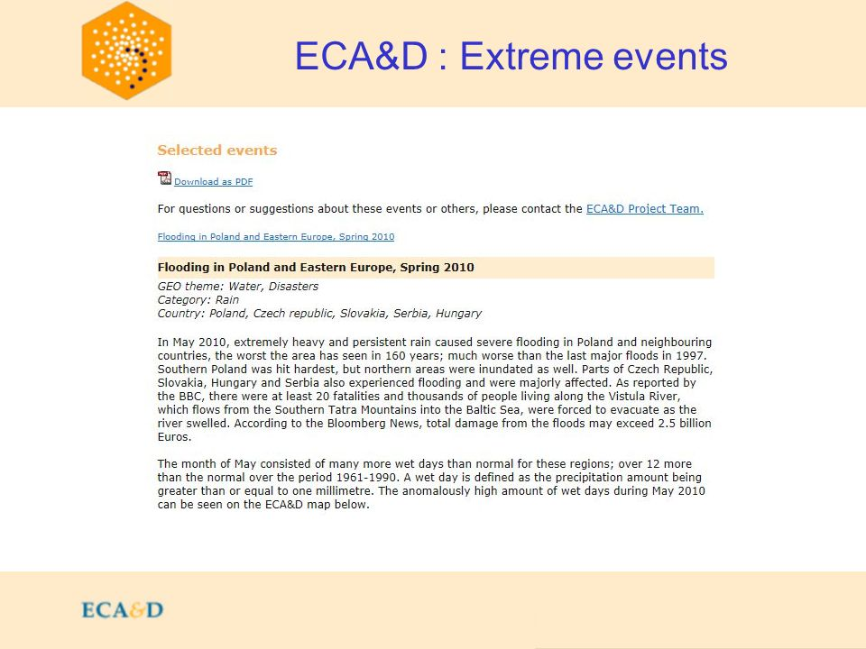 2009 ECA&D : Extreme events