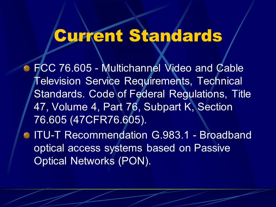 FCC 76.605 - Multichannel Video and Cable Television Service Requirements, Technical Standards.