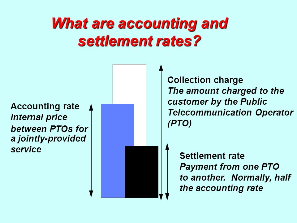 What are accounting and settlement rates.