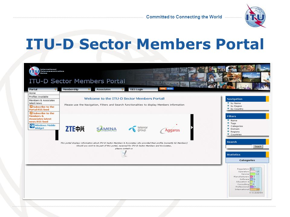 Committed to Connecting the World ITU-D Sector Members Portal