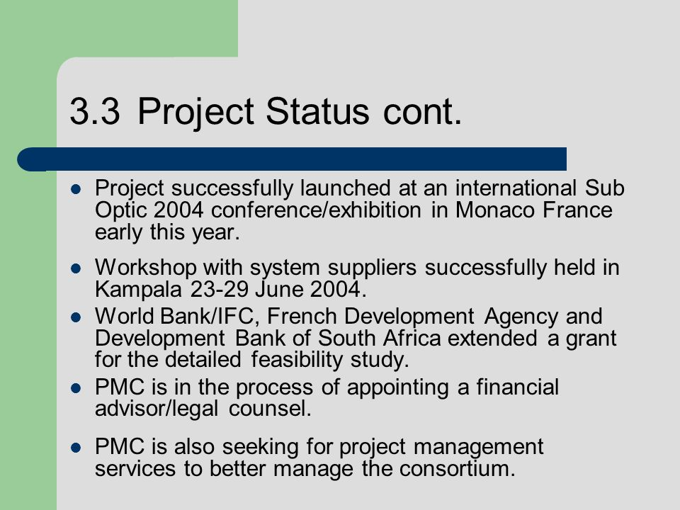 3.3Project Status cont.