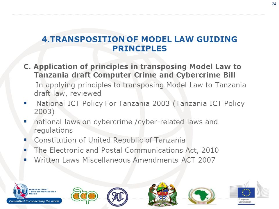 4.TRANSPOSITION OF MODEL LAW GUIDING PRINCIPLES C.