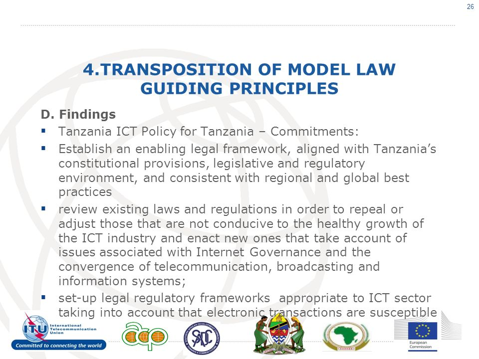 4.TRANSPOSITION OF MODEL LAW GUIDING PRINCIPLES D.