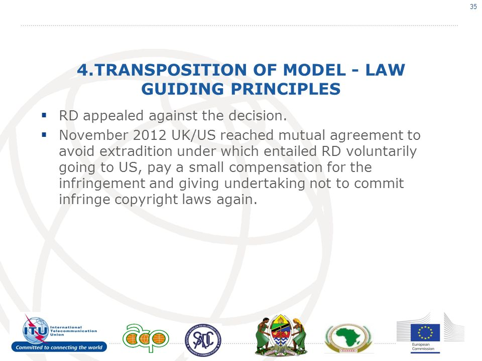 4.TRANSPOSITION OF MODEL - LAW GUIDING PRINCIPLES RD appealed against the decision.