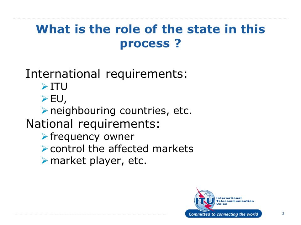 3 What is the role of the state in this process .
