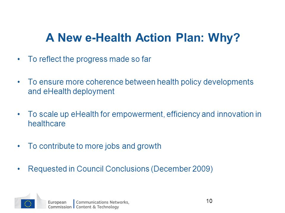10 A New e-Health Action Plan: Why.