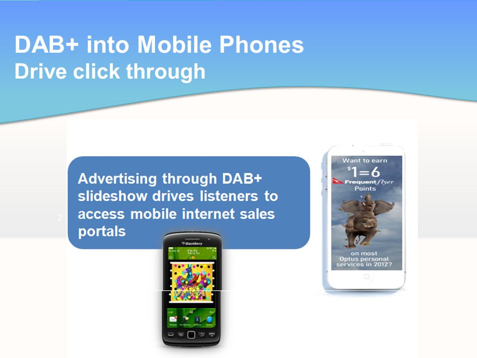 DAB+ into Mobile Phones Drive click through 2
