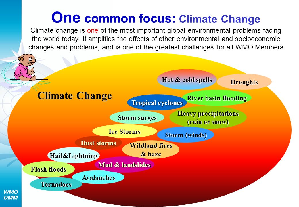 Climate Change One common focus: Climate Change Climate change is one of the most important global environmental problems facing the world today.