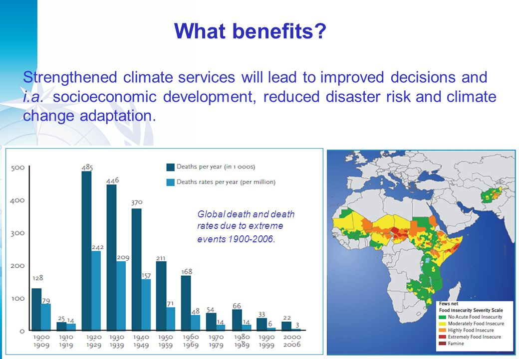What benefits. 8 Strengthened climate services will lead to improved decisions and i.a.