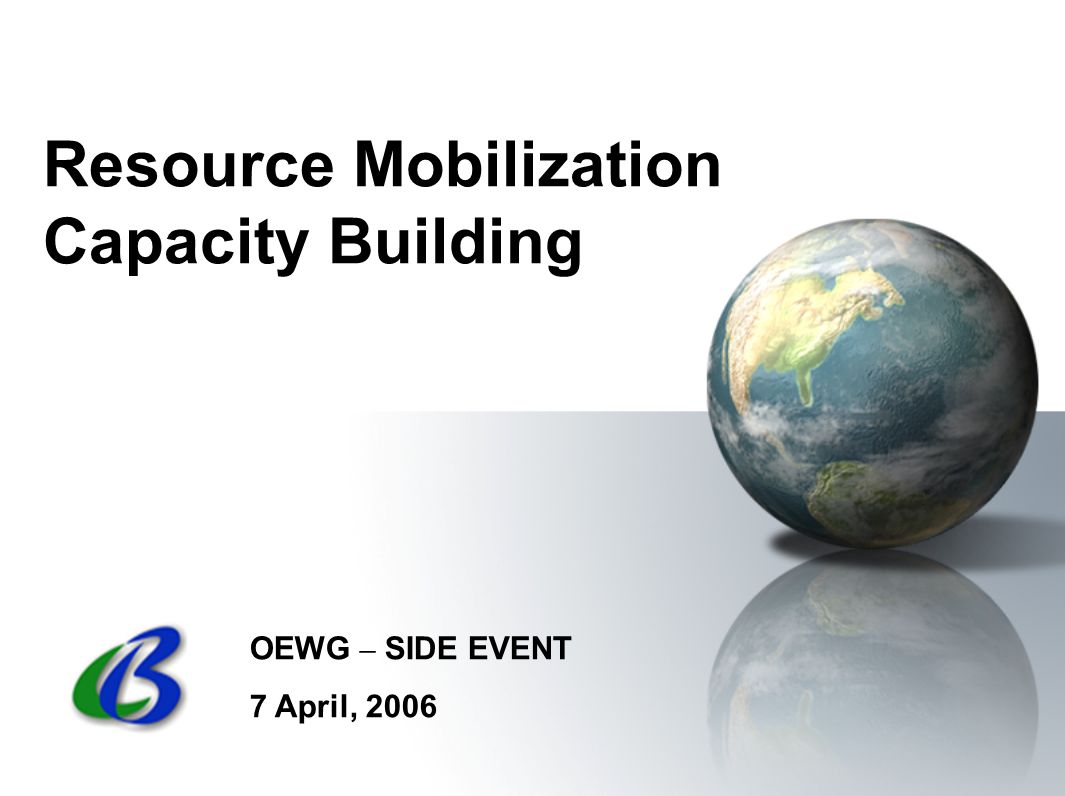 Resource Mobilization Capacity Building OEWG – SIDE EVENT 7 April, 2006