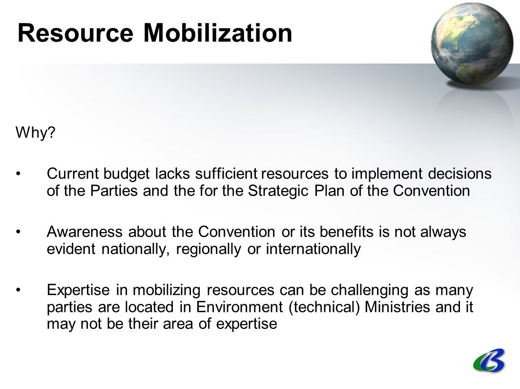 Resource Mobilization Why.