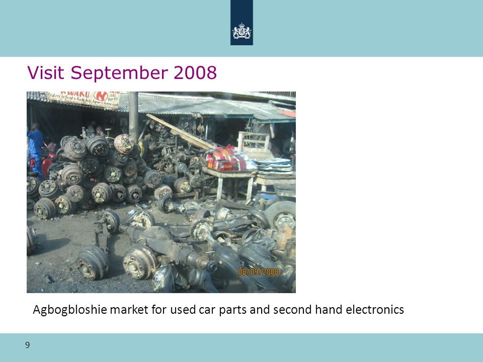9 Visit September 2008 Agbogbloshie market for used car parts and second hand electronics