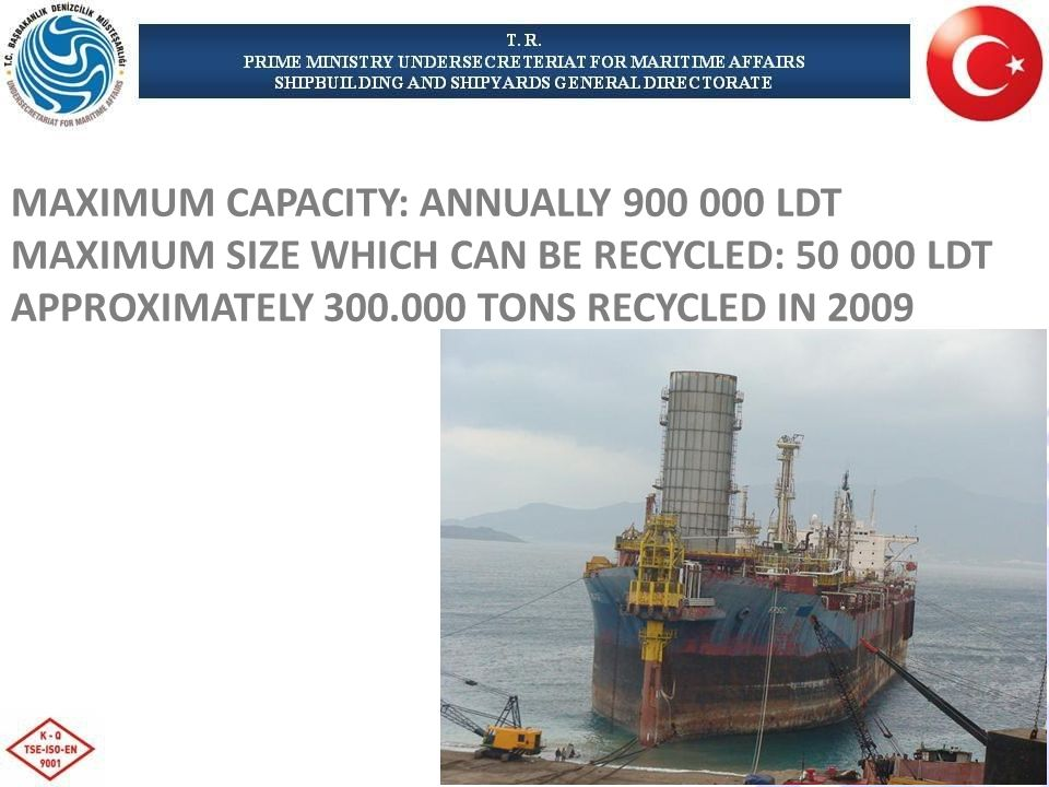 MAXIMUM CAPACITY: ANNUALLY LDT MAXIMUM SIZE WHICH CAN BE RECYCLED: LDT APPROXIMATELY TONS RECYCLED IN