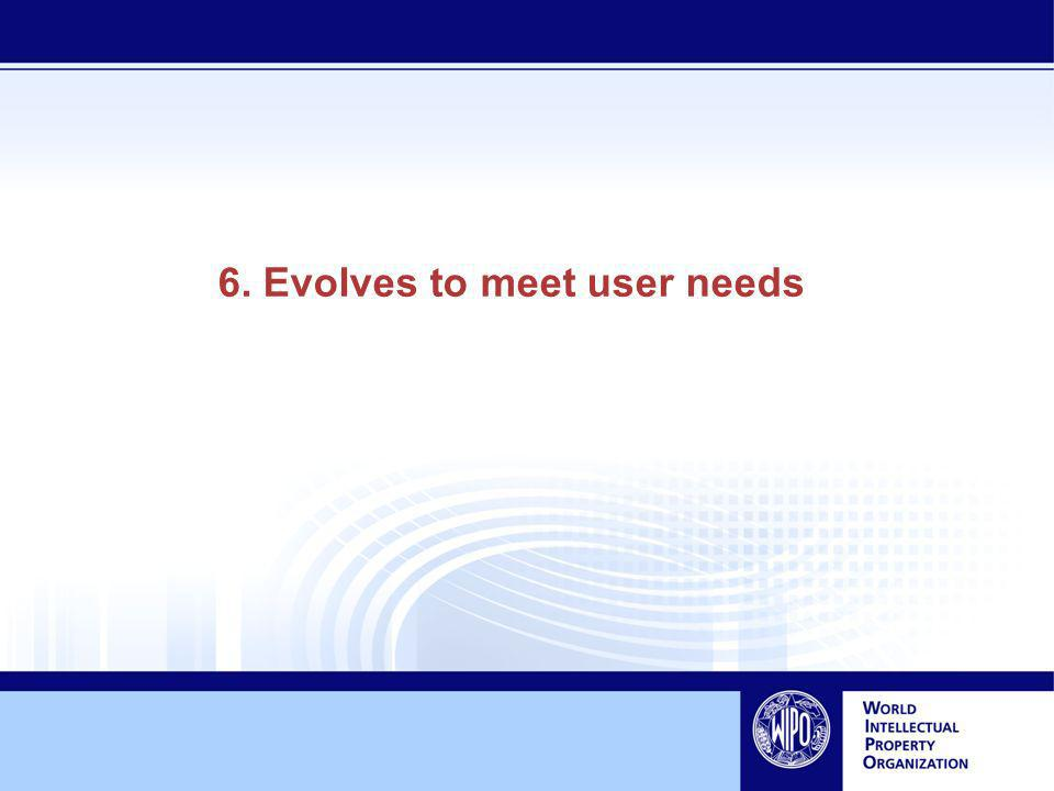 6. Evolves to meet user needs