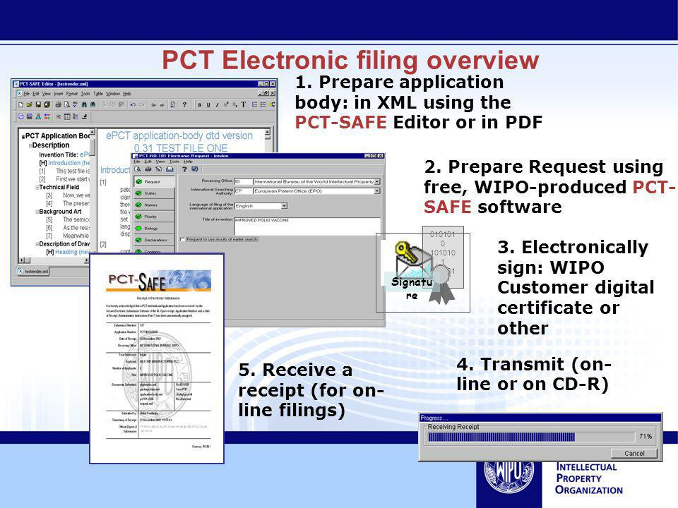 PCT Electronic filing overview 1.