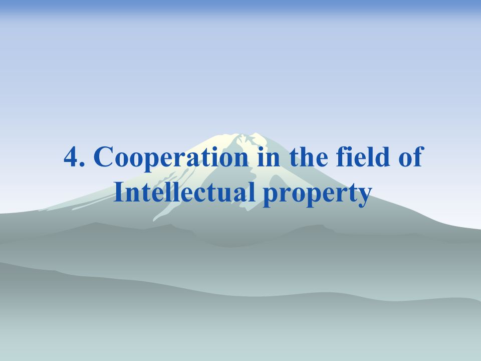 4. Cooperation in the field of Intellectual property