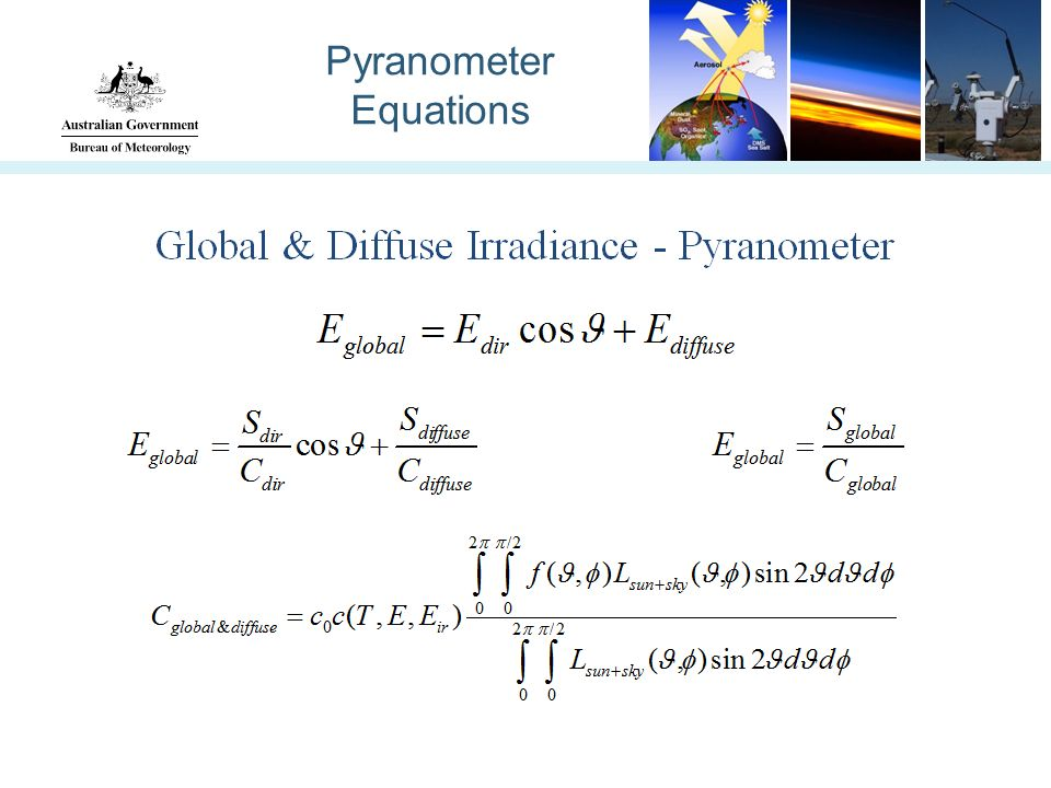 Pyranometer Equations