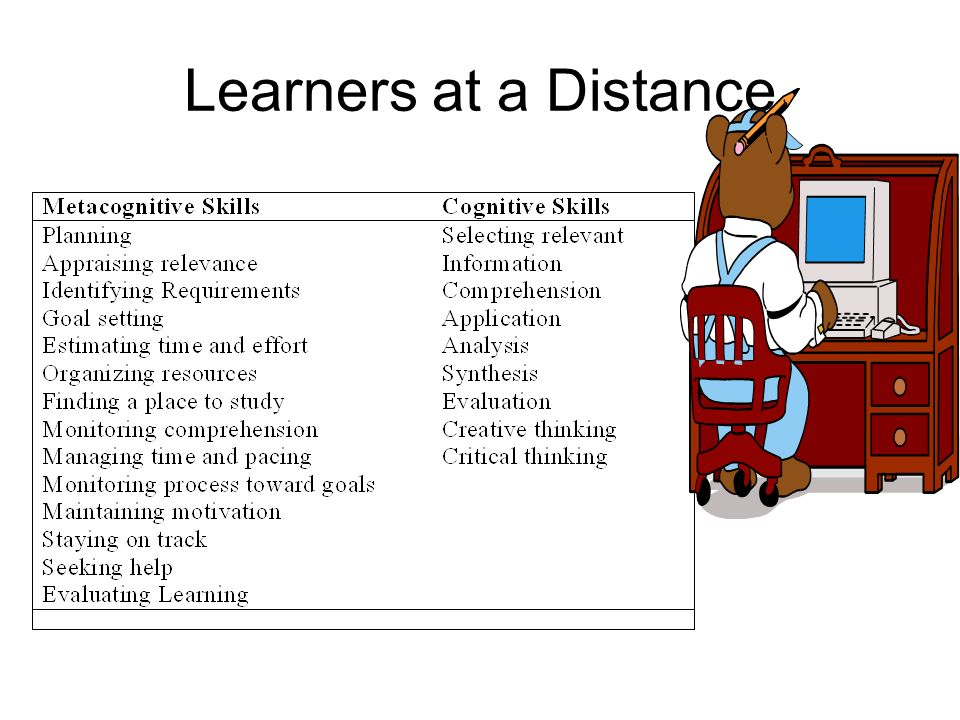 Learners at a Distance